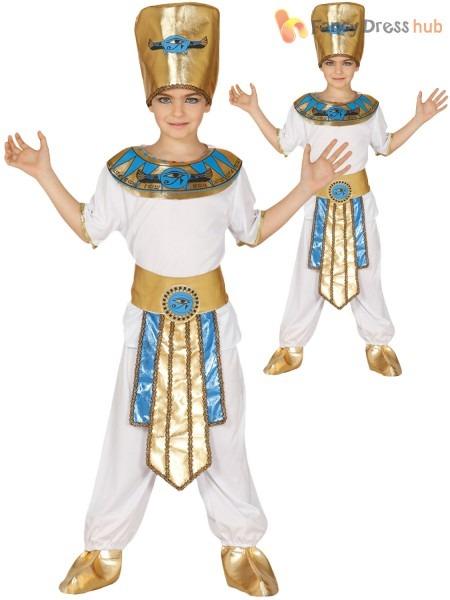 Boys Egyptian Pharaoh Costume Child King Fancy Dress, Egyptian