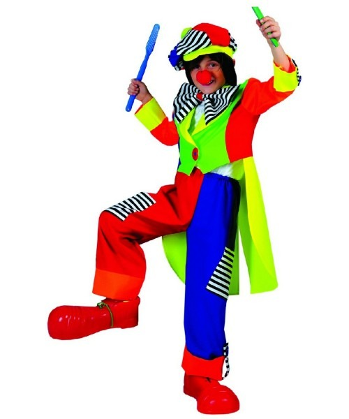 Clown Spanky Stripes Kids Costume