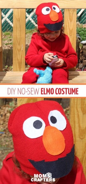 Make An Easy Elmo Costume For Toddlers