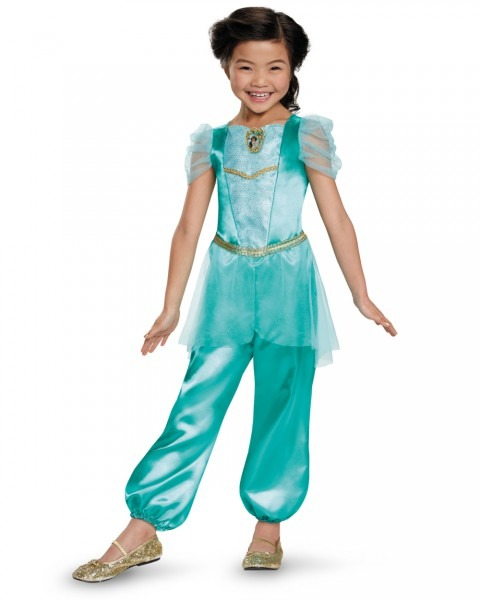 Aladdin Jasmine Classic Child Halloween Costume, One Szie, M (7