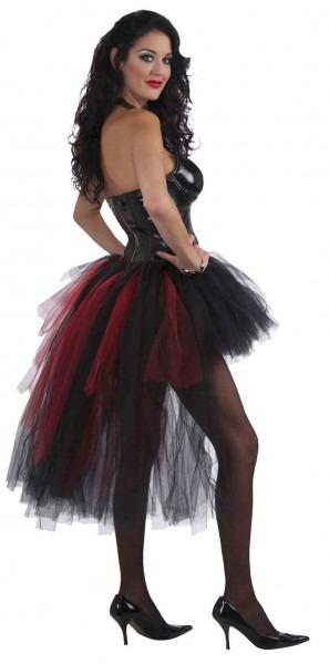 Vampiress Burlesque Tutu, Black Red Adult One Size 26