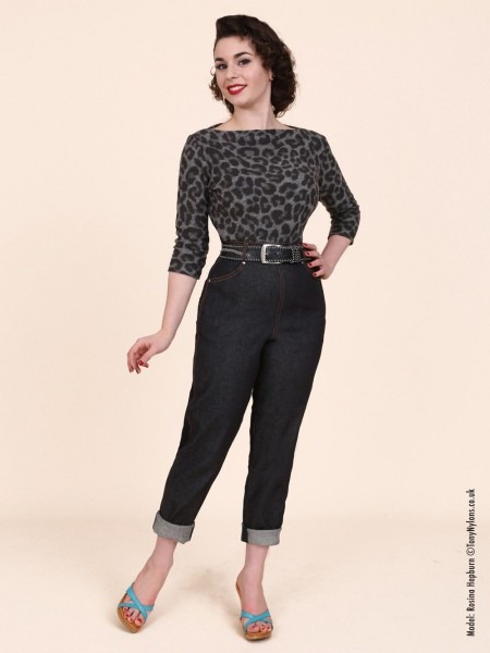 1950s Fashion For Women Jeans 1950 Jeans Blue Denim