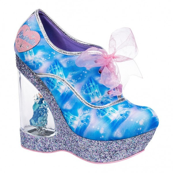 Irregular Choice Call Me Cinders Wedge Heel Shoes (blue