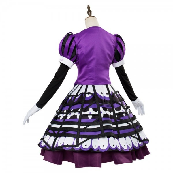 Cartoon Minnie Mouse Cosplay Costume Adult Women Purple Dress