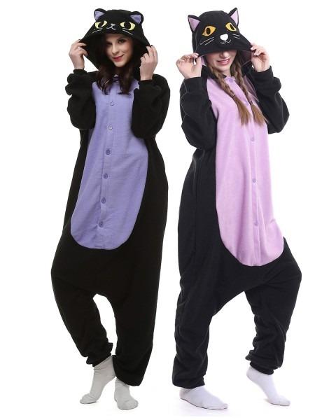 Adult Unisex Cat Onesie Pajamas For Women And Men