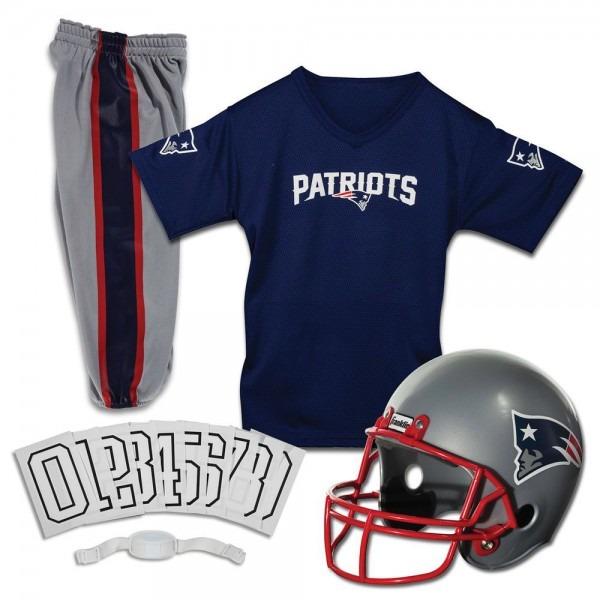 New England Patriots Jersey Youth Uniform Set Nfl Football Helmet