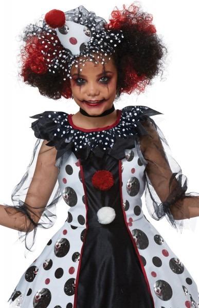 Polka Dots Clown Girls Halloween Costume