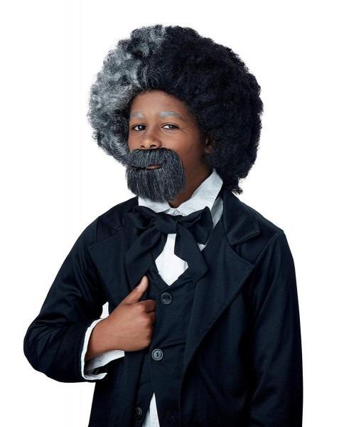 Frederick Douglass Niño Disfraz Peluca & Perilla Set