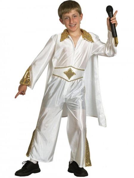 Child Elvis Presley Costume Rock N Roll Pop Star King Boys, Kids