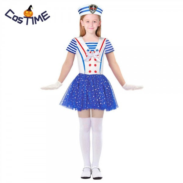 Child Sailor Girl Costume Sweetheart Sailor Costume Nautical Navy