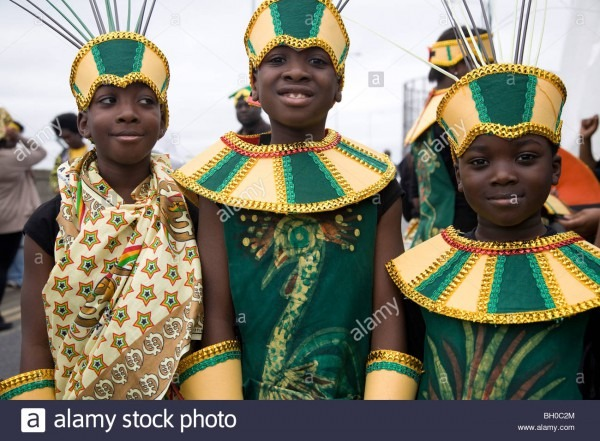 Children In Carnival Costume  Three Boys  Notting Hill Carnival
