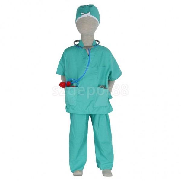 Children Surgeon Halloween Costume Fancy Dress Role Play Toys