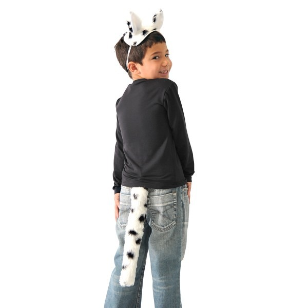Childrens Dalmatian Dog Costume Ears And Tail Set Fancy Dress