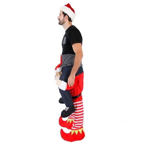 Christmas Piggyback Ride On Elf Costume