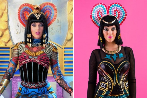 "Diy All Of Katy Perry's ""dark Horse"" Video Costumes For Halloween"