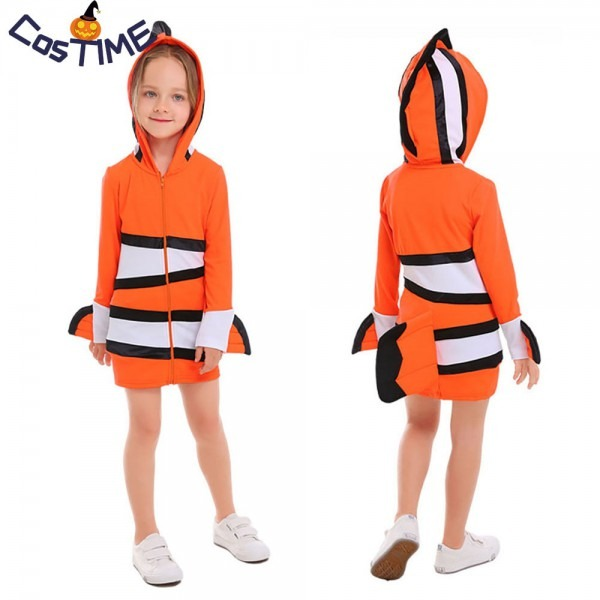 Clownfish Costume Kids Adult Nemo Fish Roleplay Sea Animal Fancy