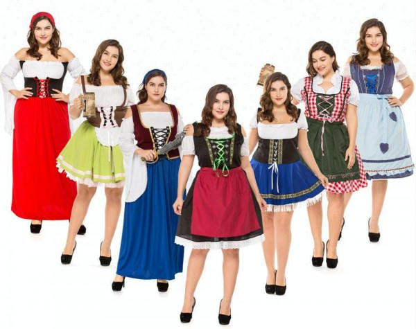 Coldker Plus Size Miss Oktoberbreast Costume Fat Women Oktoberfest