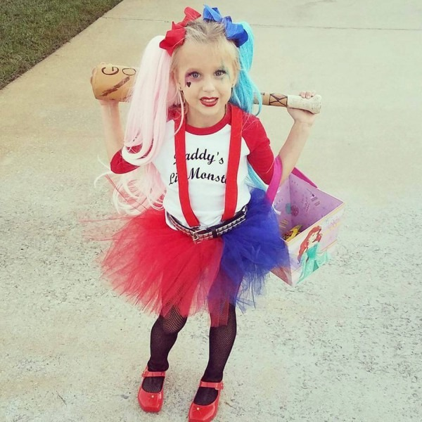 Diy Harley Quinn Costume For Little Girl