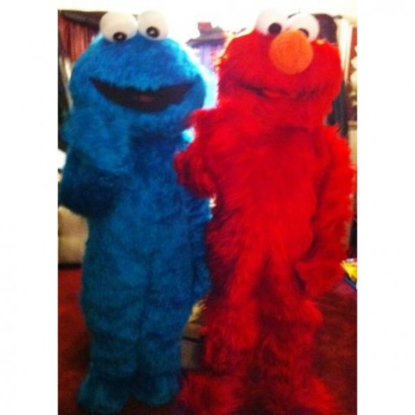 Cookie Monster Elmo Costumes, Elmo And Cookie Monster Costume