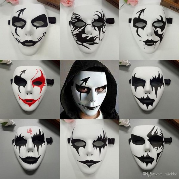 Cool Men Hand Painted Hip Hop Mask Halloween Party Full Face