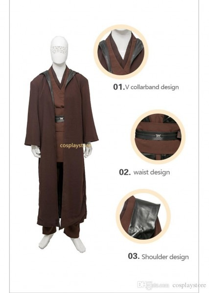 Cosplay Costume Jedi Knight Anakin Skywalker Cosplay Costume Men's
