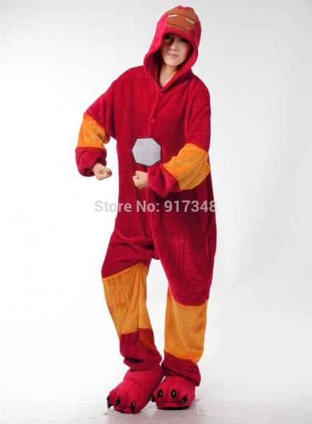Cosplay Kigurumi Onesie Costume Iron Man Halloween Christmas Party