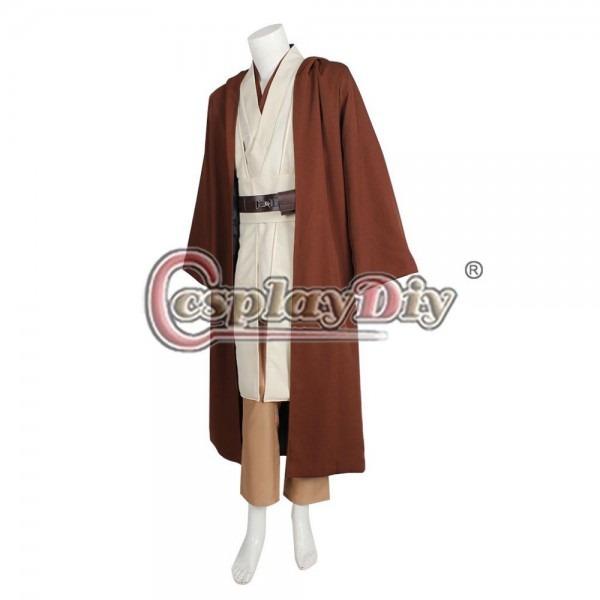 Cosplaydiy Custom Made Adult Kids Star Wars Obi Wan Kenobi Jedi