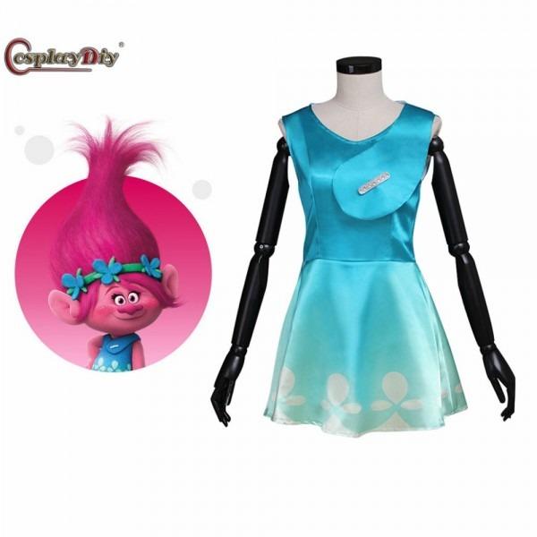 Cheapest Cosplaydiy Movie Trolls Princess Poppy Dress Summer