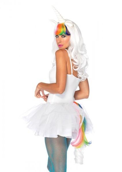 White Multi 2 Pc Unicorn Kit @ Amiclubwear Costume Online Store