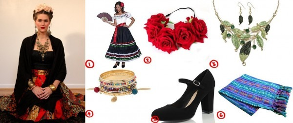 Dress Like Gorgeous Frida Kahlo Costume For Cosplay & Halloween