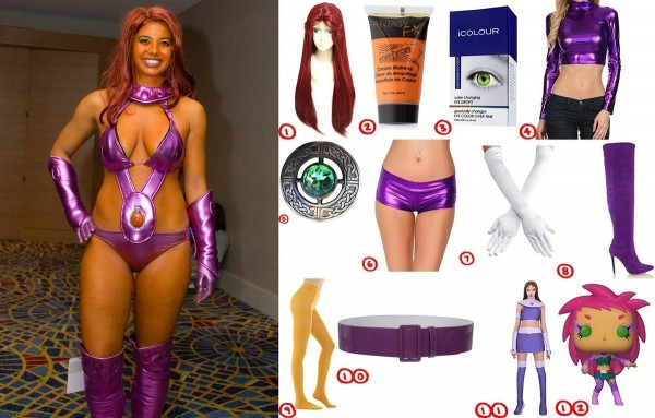 Dress Like Teen Titan Starfire Costume For Cosplay & Halloween