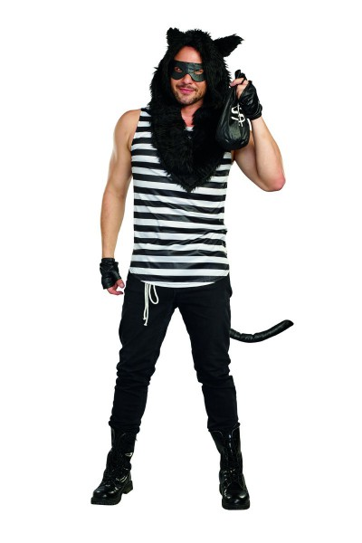 Mens Cat Burglar 7 Pc  Costume