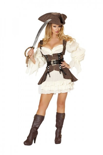 4 Pc Naughty Ship Wench Costume