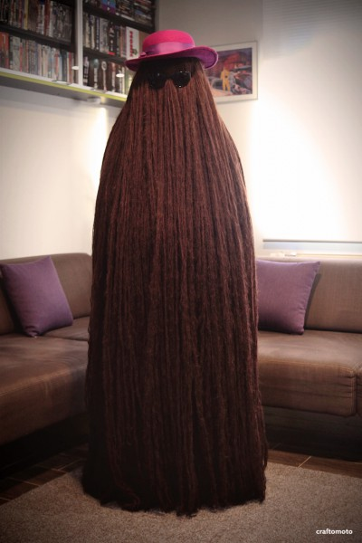 Cousin Itt's Lady Costume