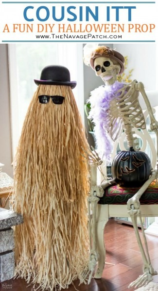 Cousin Itt Halloween Prop Tutorial