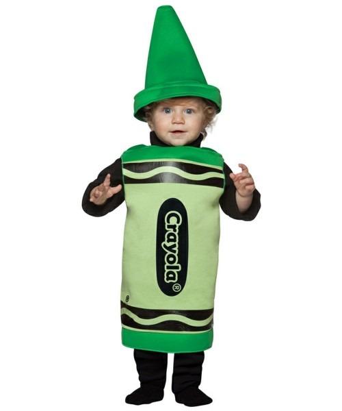 Crayon Crayola Green Baby Costume