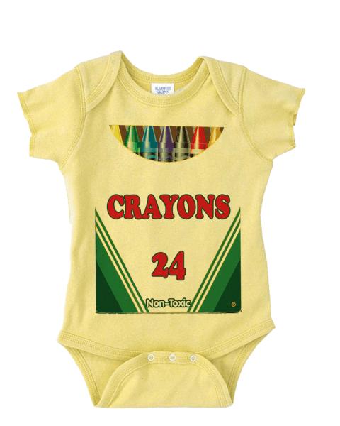 Crayon Box Costume Onesie Funny Baby Onesie Cute Baby Stuff Baby