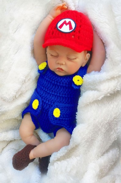 Crochet Patterns Boy Super Mario Bros Baby Photo Prop Crochet