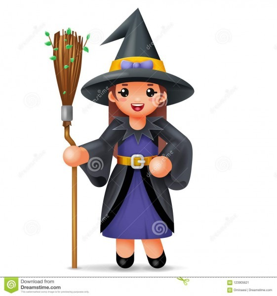Cute Witch Costume Halloween Child Girl Masquerade Party Kid