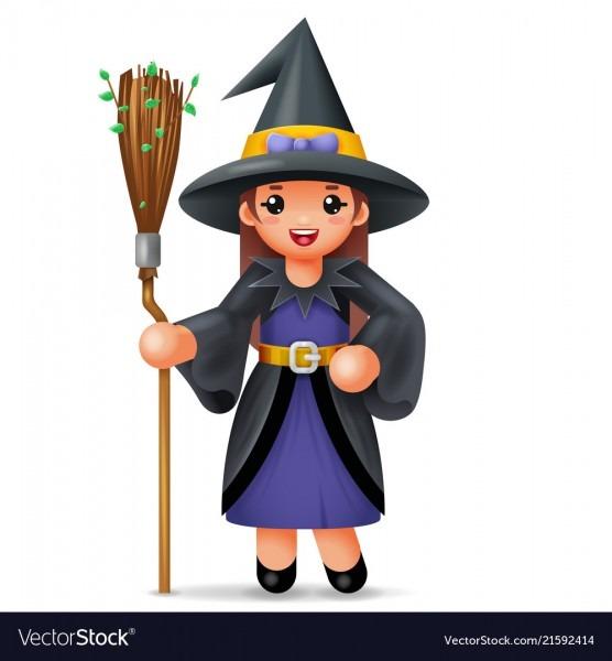 Cute Witch Costume Halloween Child Girl Masquerade