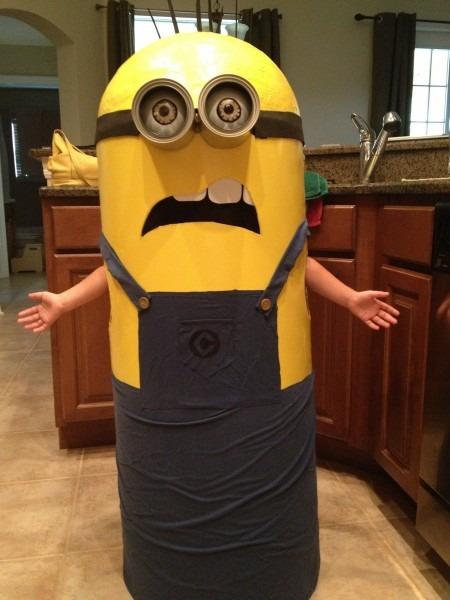 My Girls Homemade Minion Costume