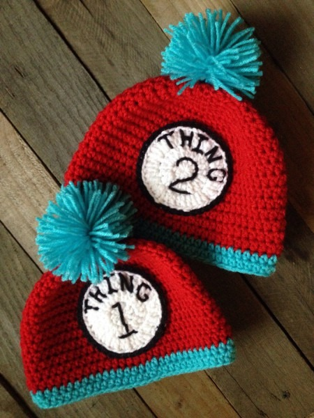 Dr  Suess Inspired 'thing 1 And Thing 2' Crochet Hats, Winter Hat