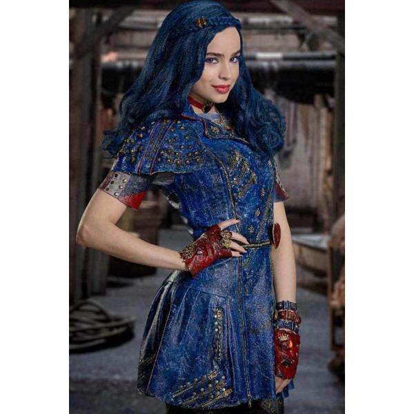 Dark Blue Descendants 2 Evie Highlight Long Wavy Braided Cosplay