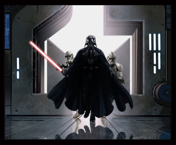 Darth Vader And Clone Trooper Image