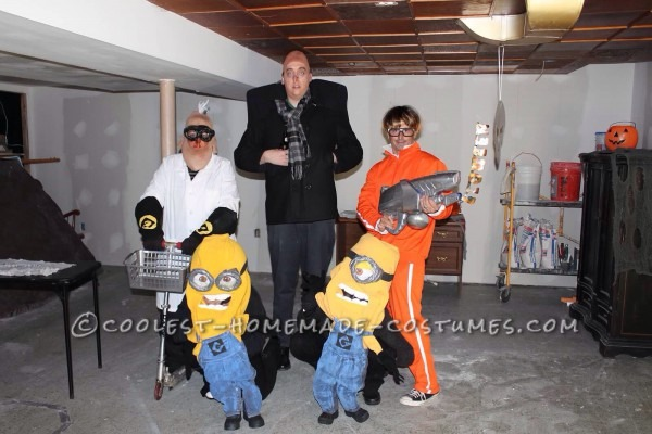 Cool Despicable Me Group Costume  Gru, Vector, Dr  Nefario And Minions
