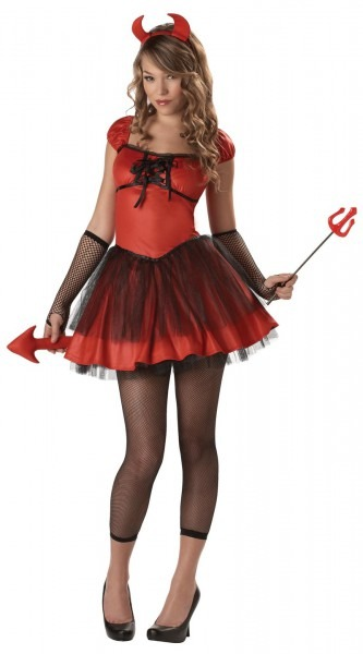 Devil Doll Teen Halloween Costume, Devil Halloween Costumes For