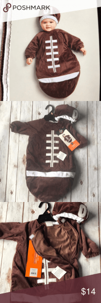 Baby Football Halloween Costume Bunting Dress Up Nwt  Purchased At