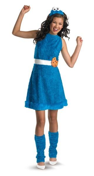 Girls Sesame Street Cookie Monster Dress Headband Leg Warmers