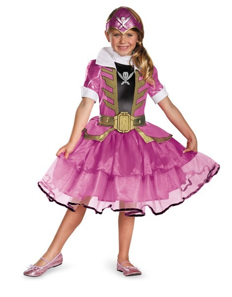 Kids Power Rangers Pink Girls Costume