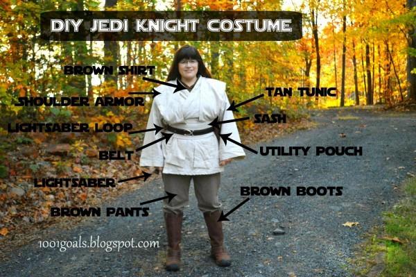 1001 Goals  Diy Jedi And Padowan Halloween Costumes